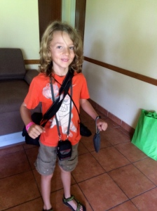 Oliver ready to photograph the wildlife!